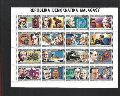 Malagasy sc#1100 (1993) Sheet of 16 MNH