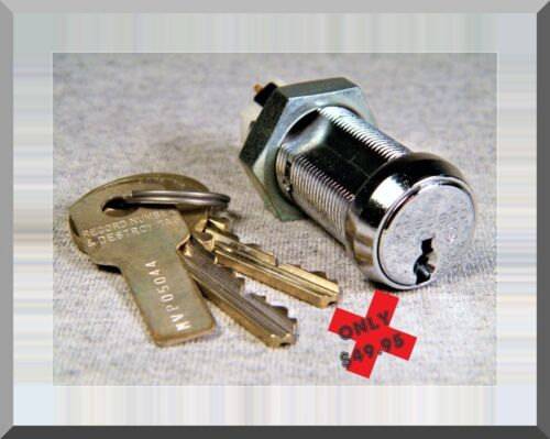 HIGH-SECURITY MEDECO KEY SWITCH, TWO HIGH-SECURITY KEYS, MOMENTARY DPST CONTACTS