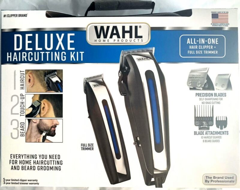 🔴 Wahl Deluxe Complete Hair Cutting Kit 29 Piece Clipper Set with Beard Trimmer