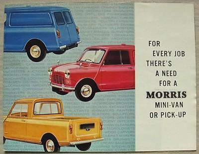 MORRIS MINI VAN & PICK UP Sales Brochure Nov 1965 #H&E 6539B