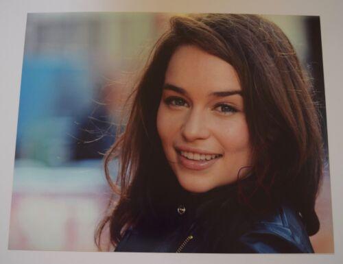 Emilia Clarke Signed Autographed 11x14 Photo GAME OF THRONES Daenerys COA VD