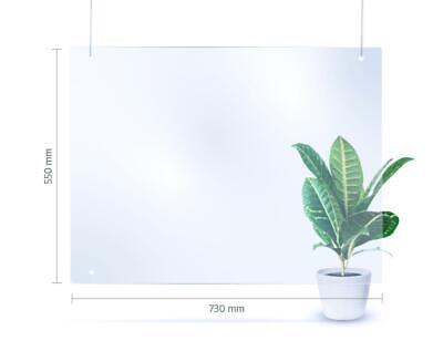 73x55 cm hängende Schutzwand - transparente Kunststoff-Barriere als Spuckschutz