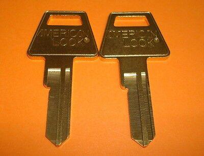Lot Of 2 Usa American Lock Original 5 Pin Key Blanks 2 Uncut Key Blanks