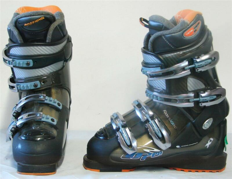 Rossignol Open X1 Womens Snow Ski Boots Black Transparent Size 6 Mondo 23.5 NEW