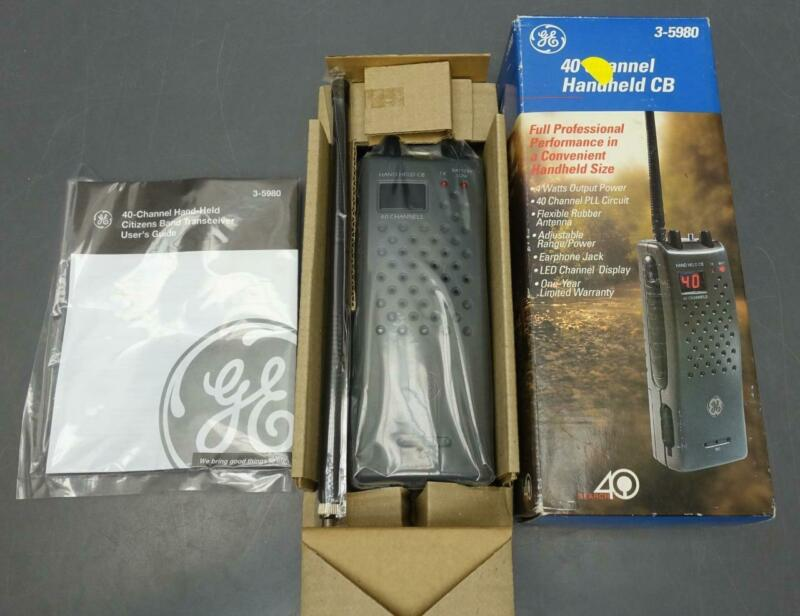 NEW General Electric GE 3-5980 40 Channel Handheld CB Transceiver Radio