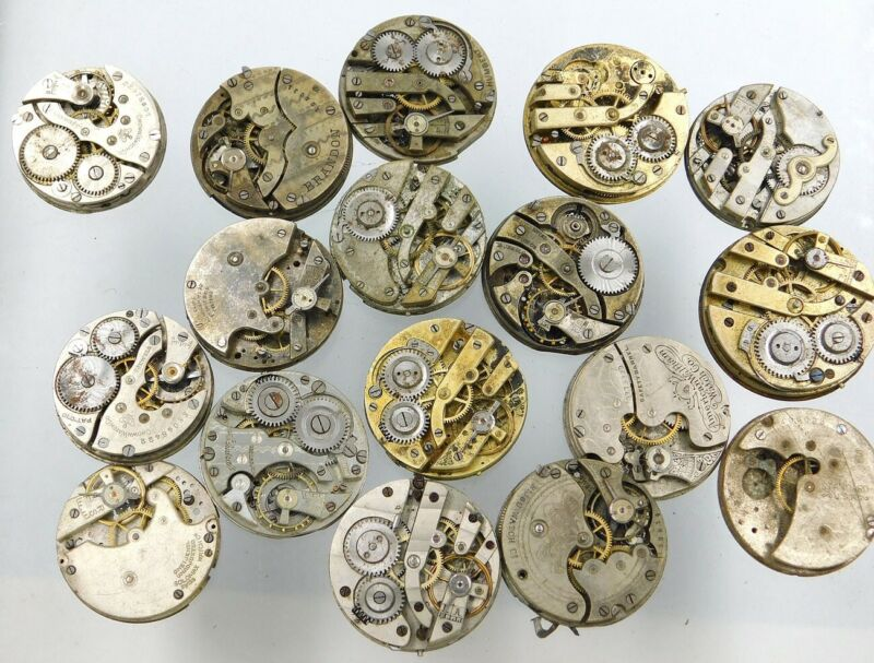 Watch movement pocket + trench lot c948