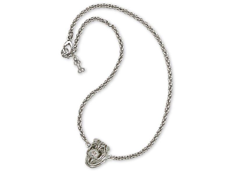 Shar Pei Ankle Bracelet Jewelry Sterling Silver Handmade Dog Ankle Bracelet SHP2