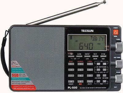 Tecsun PL880 PLL Dual Conversion AM FM Shortwave Portable Radio with SSB