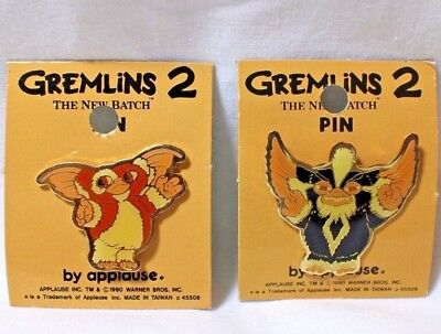 Set Gremlins 2 Movie Pins Gizmo Mogwai Gremlin Movie Pin NOS 1990 Warner Bros