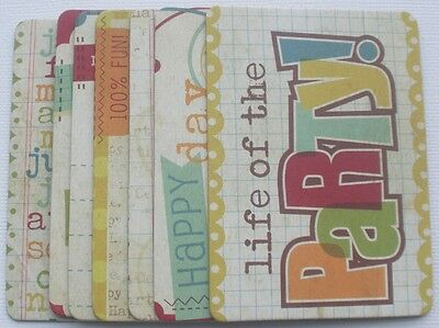 Journal Kit - HAPPY BiRTHDAY - Simple Stories Chipboard Embellishments Die Cuts - Simple Chipboard Kit