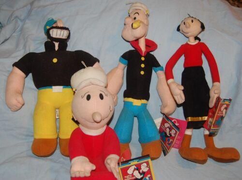 Vintage Popeye Collectible Plush Set, by Kellytoy