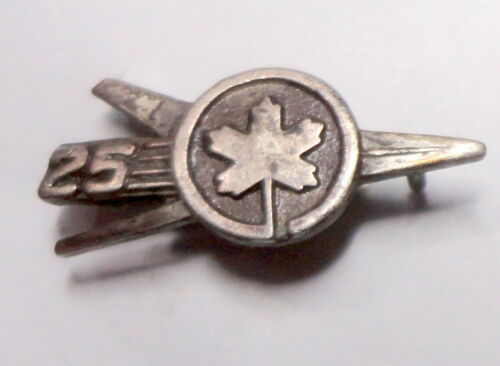 Air Canada 25 Years of Service Jet Pin ~ Employee Lapel Pin ~ Airplane badge