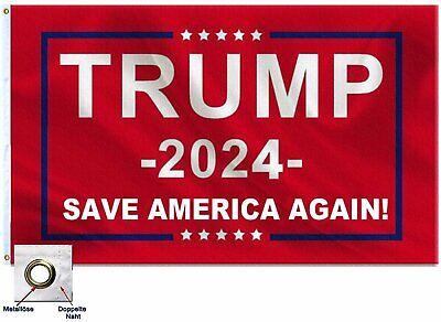 Premium 3x5FT 2024 Donald Trump Save America Again Flag Red MAGA Patriot USA Décor
