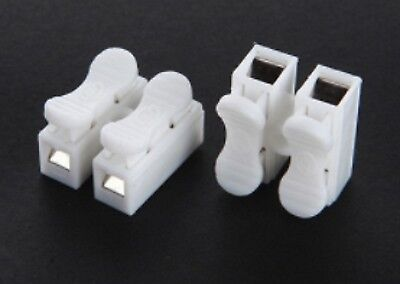 5X 2 Way Reusable Quick Spring Lever Electric Wire Connector Terminal Block 5A