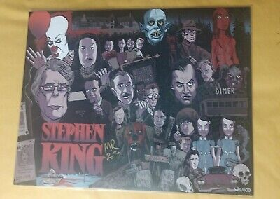 Big Bam Box Stephen King 11x14 Fan Art Print Signed by Artist LE 529/600 COA