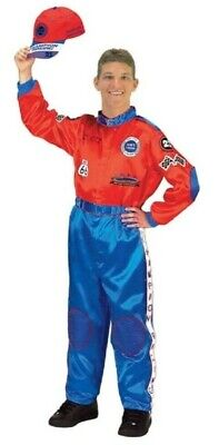 Halloween Racing Suits (Aeromax Adult Champion Race Suit Car Racing Costume Get Real Gear Halloween Sz)