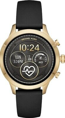 Michael Kors MKT5053 Smart Watch 41MM Women's Black Silicone Watch, Brand New.