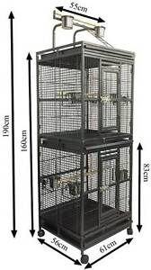 Jan sale 2 storey bird cage 2 in 1 with stand Riverwood Canterbury Area Preview