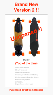 Brand New Unopened Boosted Version 2! Dual+ Electric Skateboard