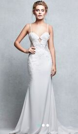 "Wed2b Signature Collection ""pea"" fishtail wedding dress"