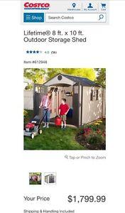 Lifetime 8x10 storage shed