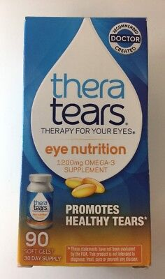 (New) Thera Tears Nutrition Omega-3 Supplement  90 Softgels