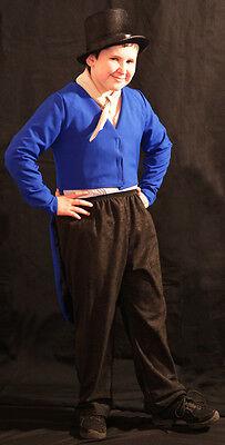 Oliver-Victorian ARTFUL DODGER Blue Tailcoat, Necktie & Hat  ALL - Artful Dodger Kostüm