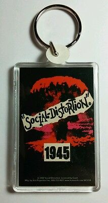 AS-IS SOCIAL DISTORTION 1945 RED SMOKE CLOUD KEY CHAIN KEYCHAIN