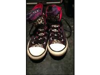 Girls Satin Converse