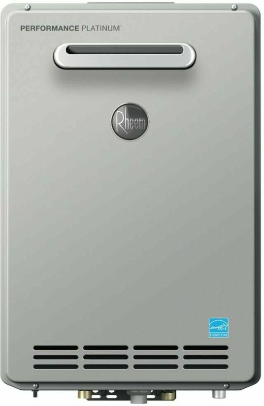Rheem Ecosense Tankless Water Heater 199,900 BTU Liquid Propane Heater 9.5GPM
