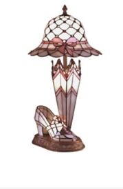 Dale Tiffany Shoe Hat and Umbrella Lamp. New, still in box