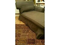 IKEA Grey Chaise Lounge - Changeable covers