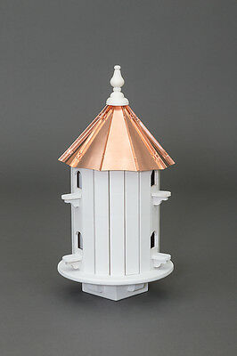 6 Hole Finch Bird House with copper top Amish Made in USA X-Large 25 inches TALL