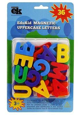 EduKid Toys MAGNETIC UPPERCASE ALPHABET LETTERS (36) ~NEW~