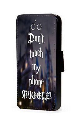 Harry Potter phone case Inspired Don't Touch My Phone Muggle faux leather flip