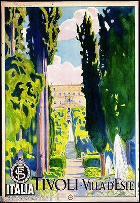 Tivoli Italia Italy Vintage European Travel Advertisement Poster Picture Print