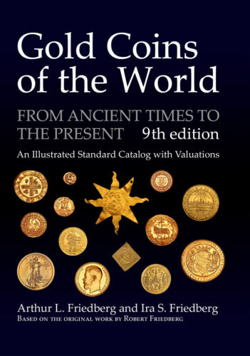 Gold Coins of the World - 9th edition. New, but with dented cover