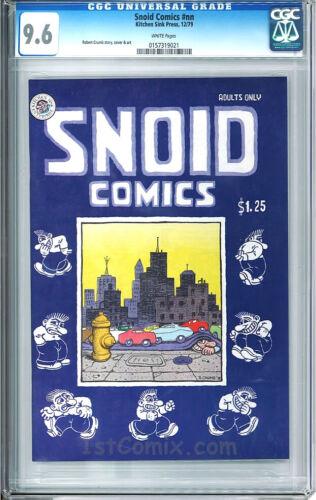 SNOID COMICS, UNDERGOUND COMIX, CGC 9.6, 1ST, Robert Crumb