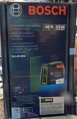 New In Box Bosch Green-beam Self-leveling Cross-line Laser Gll40-20g