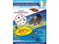 Pest control NPTA RSPH Rat Mice Cockroaches bedbugs extermination LONDON 24/7 cheap price