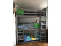 Grey 3 Tier Heavy Duty Bunk Bed