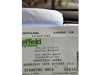 Justin bieber ticket Sheffield