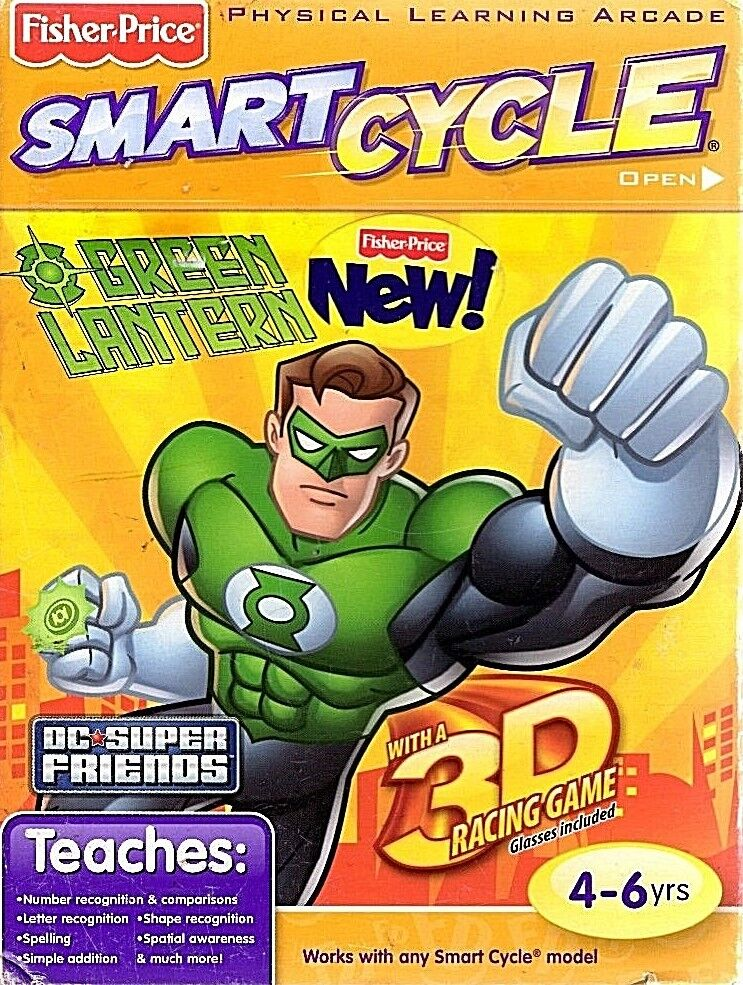 BRAND NEW Fisher Price Smart Cycle Green Lantern Game