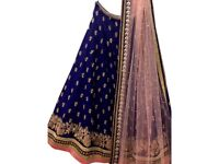 Navy blue lengha suit