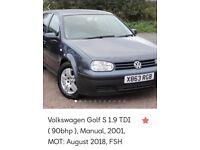 Volkswagen Golf S 1.9 TDI for sale