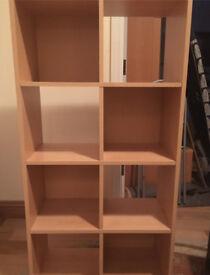 Wooden shelving unit/bookcase