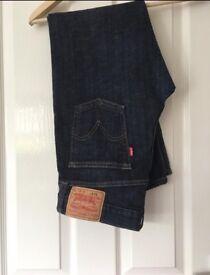 Men Levi's 514 blue jeans. Waist 34leg 32