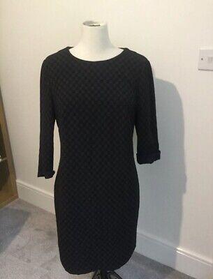 JONATHAN SAUNDERS Ladies checkerboard Black tunic Dress Size 14 BNWT new £65