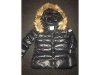 Moncler jacket size 6 or teen girls Puffa with Fur Hood