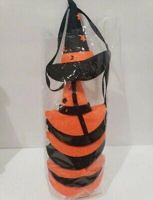 Halloween orange black Witch hat felt Garland 6ft